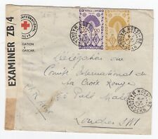 WW2 Red Cross Nossi-Be Madagascar Cover 1945 IRC London Censored Examiner ZB/4