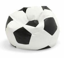PU Leather Football Soccer Bean Bag Cover skin Indoor Sofa Seat