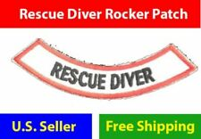 RESCUE DIVER rocker chevron Iron-on adventure Certificate Embroidered Patch