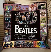 60 years of the Beatles , Thank for the memories Quilt blanket, Fleece Blanket