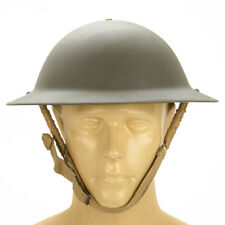 Original WWII British Brodie Steel Helmet in OD Green- WW2 Dated