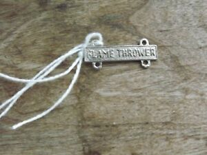 Army Flame Thrower Qualification Bar