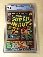 Marvel Super-heroes #1 CGC 9.4 NM daredevil avengers KIRBY 1966 human torch