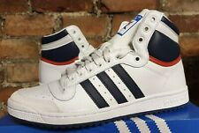 Adidas Top Ten Hi D65161 UK7.5 EUR41 1/3 US8 Blanco Azul Naranja Baloncesto OG