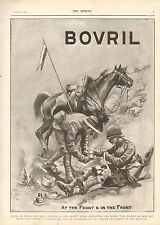 More details for 1900 antique print- boer war-advert-bovril,at the front & in the front