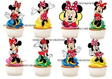 30 Minnie mouse STAND UP Cupcake Cake Toppers Edible Paper Decorations Birthday