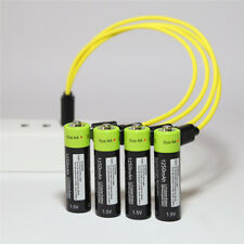 4pcs ZNTER 1.5V AAA 400mah Rechargeable Lithium USB Battery w USB Charging Line