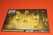Cheer Card Authentic Fan Golden State Warriors NBA Finals 2016 Cavaliers New SGA