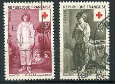 PROMO STAMP / TIMBRE FRANCE CROIX ROUGE OBLITERE N° 1089/1090