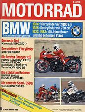 7523M Motorrad 1983 8/83 RG250 Gamma XLV750 R80GS Egli Red Falcon VT500E GPZ750