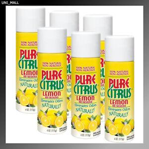 Pure Citrus New Lemon Spray 4 Oz. Air Freshener 6-PACK