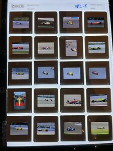Lot of 20 Indy Racing League IRL IndyCar 35mm Slides Goodyear Brack Ray More