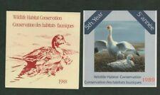 Canada 1988 / 1989 Wildlife Habitat Conservation Cinderella Stamp Booklet