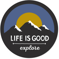 Life Is Good Explore Mountains Sticker Decal 4in