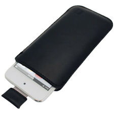 Black Leather Pouch for Apple iPod Touch 6th 5th Generation itouch Case Cover