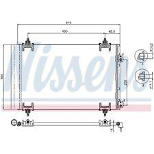 1 Kondensator, Klimaanlage NISSENS 94826 passend für CITROËN PEUGEOT DS