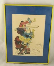Leo Meiersdorff New Orleans 1976 Watercolor Painting Lithograph Jazz Musicians