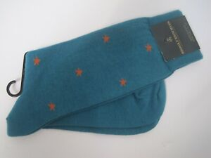 Brooks Brothers Socks One Size 88% Cotton Made In Italy NWT
