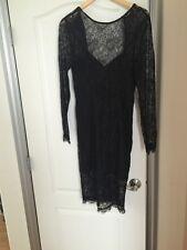 Kardashian Kollection Black Lace Dress Size Large