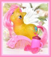 ❤️My Little Pony MLP G1 Vtg BABY SPARKLE GUSTY Glitter Unicorn Pink Star COMB❤️