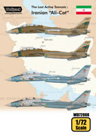 Wolfpack 1/72 decal The Last Active Tomcats Iranian Alicat F-14A Tomcat WD72008