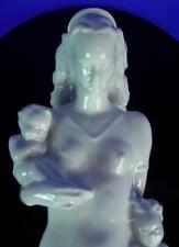 Grande rosenthal Madonna - - Marie enfants-taperai Pierre-noire plaque de verre