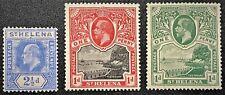 St. Helena #56-VLH mark #62-VLH rem. #75-NH Postage Stamp All mint OG VF (15-10)