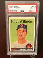 1958 Topps Hoyt Wilhelm Cleveland Indians HOF PSA 4 VG-EX St. Louis Cardinals
