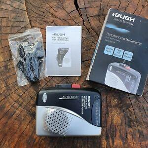 Portable Cassette Radio Recorder - Bush KW-938B-SP - Speaker Earphones BOXED