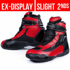 100% Leather Black Motorcycle Boots