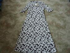 NEXT 'Tall' floral black & cream dress part backless Size 8 BNWT