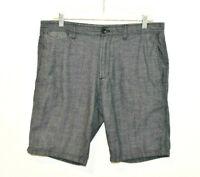 Banana Republic Aiden Shorts Men's Size 32 Chambray 100% Cotton Blue