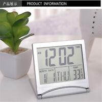 Mini Date Time Calendar Alarm Clock Desk Digital LCD Thermometer Cover Display