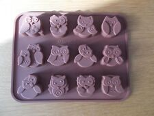 12 Cavity Silicone OWL shapes  Sweet Mould Chocolate ice sugar craft SOAP