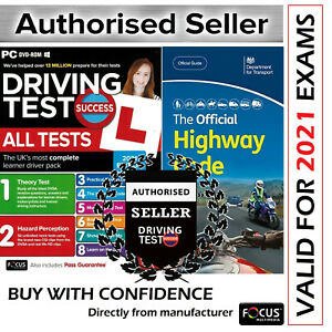2021 Driving Theory Test and Hazard CD DVD + Official DSA Highway Code Book*AtHw