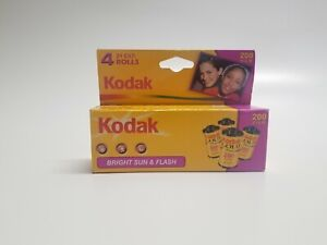 NOS Kodak Gold 200 Film ISO 200-24  Bright Sun and Flash 4 Roll Pack