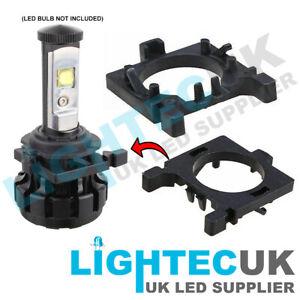 2 LIGHTEC UK HOLDER CLIP H7 LED ADAPTER FOR FORD MONDEO FOCUS HEADLIGHT BULBS