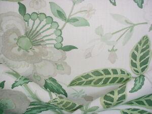 Lee Jofa 2017164 Davenport Print Green Floral Linen Upholstery Fabric