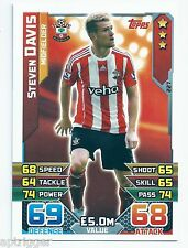 2015 / 2016 EPL Match Attax Base Card (227) Steven DAVIS Southampton