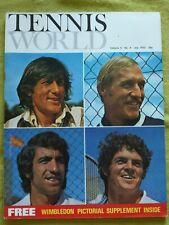 TENNIS WORLD / 1972 JULY / THE MEN AT WIMBLEDON