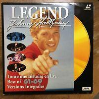 rare ! Laser Disc Laser Disque Johny Hallyday Legend 61-69 70-92 laserdisc