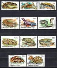 Guinée 1977 Reptiles (184) Yvert n° 596 à 603 + PA 113 à 115 oblitéré used