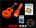 UKULELE STARTER PACK U30O ORANGE SOPRANO UKE + GIG BAG + PLAY UKULELE DVD +TUNER
