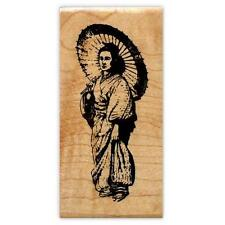 Japanese Lady mounted rubber stamp, asian woman, oriental #12
