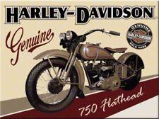 DECO : MAGNET (8 X 6cm) : HARLEY-DAVIDSON FLATHEAD