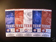 Texas Rangers 2011 Mlb ticket stubs - Al Champions- One ticket - See Listing