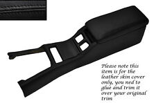 BLACK LEATHER CENTRE CONSOLE COVER&ARMREST LEATHER COVERS FITS TOYOTA SUPRA MK3
