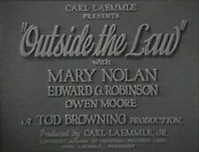 OUTSIDE THE LAW 1930 (DVD)  EDWARD G. ROBINSON