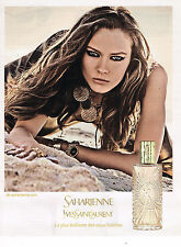 PUBLICITE ADVERTISING 015  2011  YVES SAINT LAURENT  eau de toilette SAHARIENNE