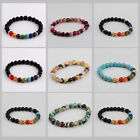 7 Chakra Healing Balance Beaded Charm Bracelets Natural Stone Fashion Xmas Gifts